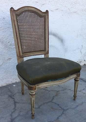 Antiga Cadeira Baixa Luis Xv Palhinha
