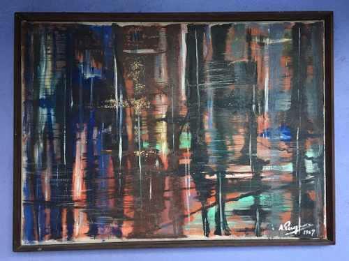 Abstrato - Quadro Oleo Sobre Tela Assinado 78x103