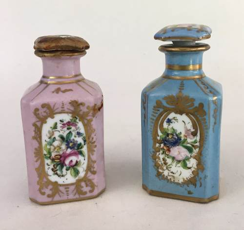 Par De Perfumeiros Antigo Porcelana Francesa Sevres