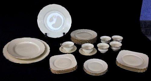 Antigo Aparelho De Jantar Tcheco Bohemia Porcelana