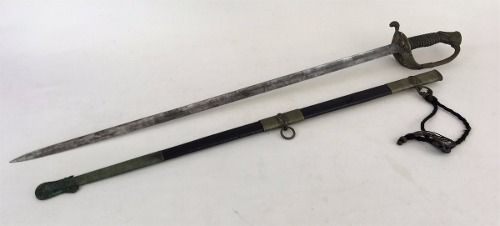 Antiga Espada Marinha Lamina Gravada