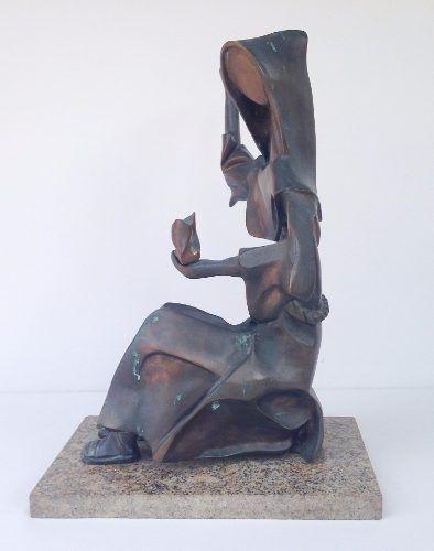 Arte Sacra Magnifica Escultura Em Bronze São Francisco