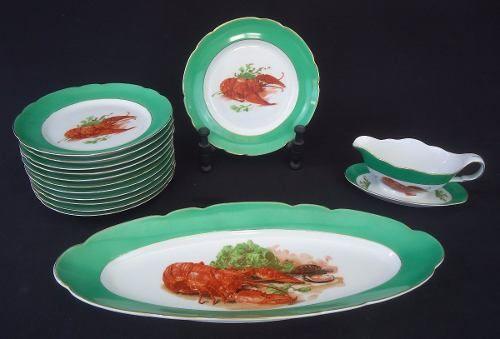 Antigo Conjunto De Jantar Lagosta Vista Alegre