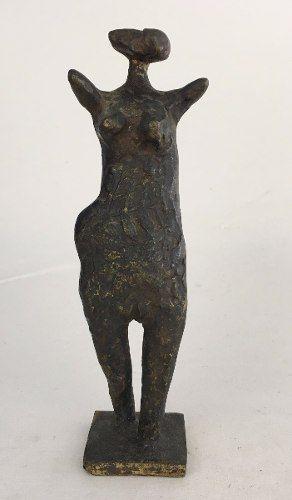 Francisco Stockinger Escultura Em Bronze Assinada 21cm Altura