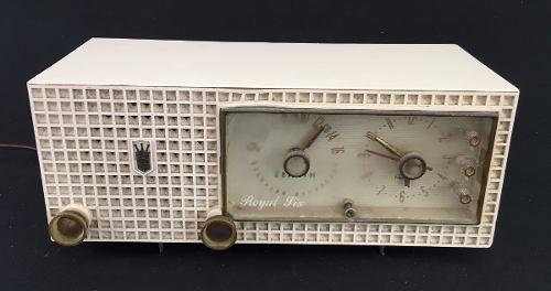 Antigo Rádio Relógio Zenith Royal Six