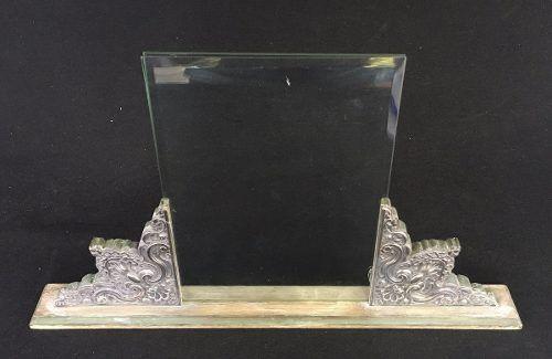 Porta Retrato Em Prata De Lei Vidro Bisotê