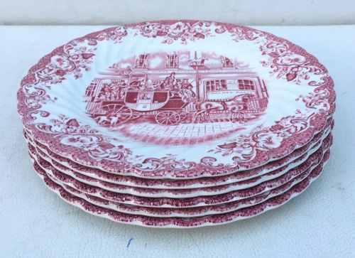 Lindo Conjunto Pratos Sobremesa Inglês Johnson Bros 20cm