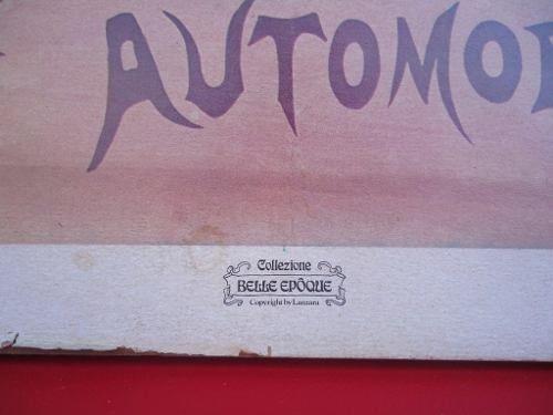Antigo Poster Fiat Automoveis Emoldurado