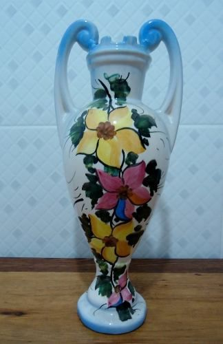 Antiga Anfora Porcelana Florida 34 Cm