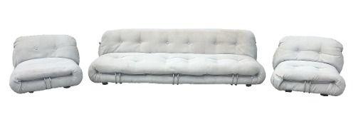 Conjunto De Sofa Italiano Design Tobia Scarpa Modelo Soriana