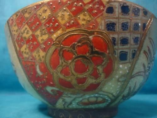 Antigo Potinho Cumbuca Porcelana Satsuma China