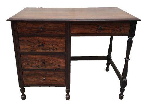 Antiga Escrivaninha Pequena Em Jacaranda
