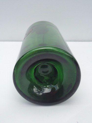 Antiga Garrafa Em Vidrão Verde Grande 47cm De Altura
