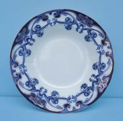 Prato Fundo Borrão 23cm Iris Royal Pottery