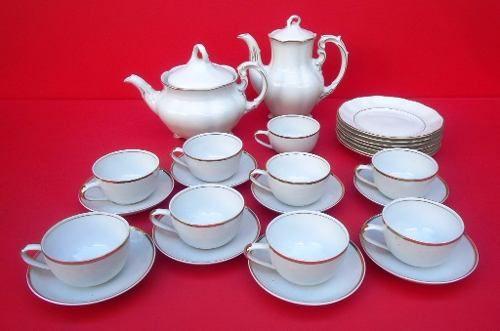 Belissimo Conjunto De Chá Polones E Maua Em Ouro