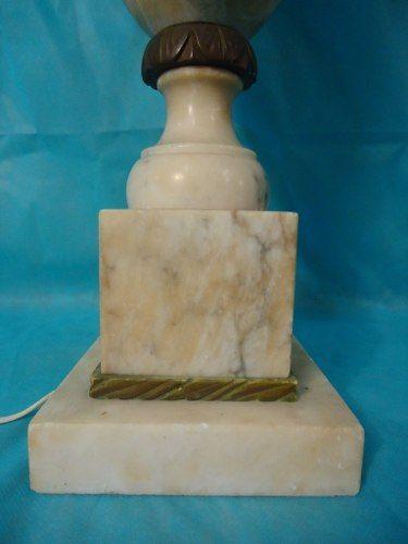 Antigo Abajur Luminaria Em Marmore 75 Cm Altura