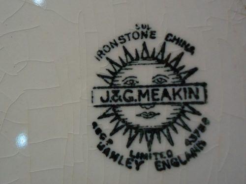 Antiga Travessa Em Faiança Inglesa J&g Meakin