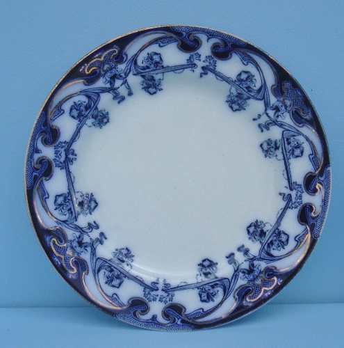 Antigo Prato Borrao 19cm Iris Royal Pottery