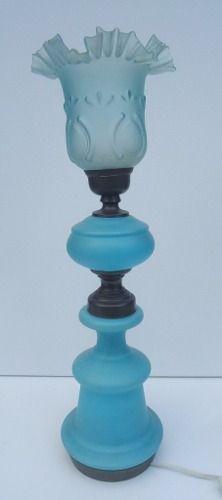 Antigo Abajur Luminaria Vidro Acidado Com Cupula