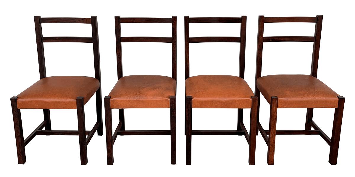 4 Cadeira Antiga Jacaranda Design Anos 60