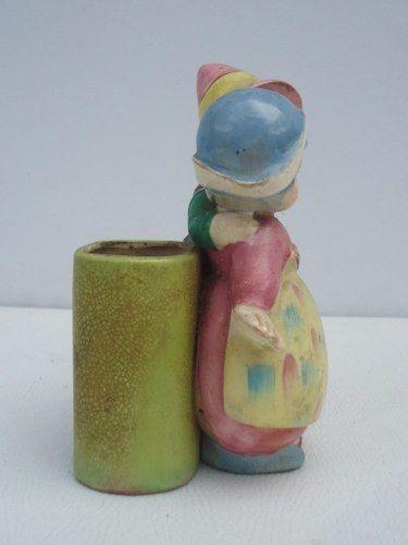 Lindo Porta Canetas Antigo Em Porcelana Japonesa
