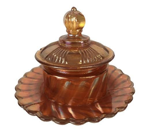 Antiga Mantegueira Fogo Carnival Glass Vidrao