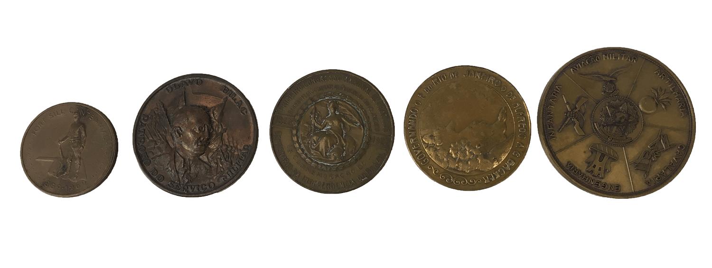 5 Medalhas Antigas Lote
