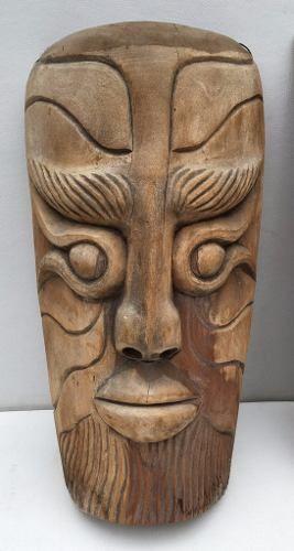 Grande Par De Escultura Africana Em Madeira