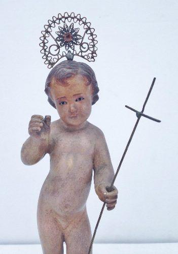 Arte Sacra Menino Jesus Com Olhos De Vidro E Resplendor