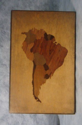 Antiga Caixa Porta Joia Em Madeira Marchetada Mapa Do Brasil