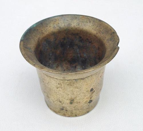 Antigo Almofariz De Pilão Em Bronze