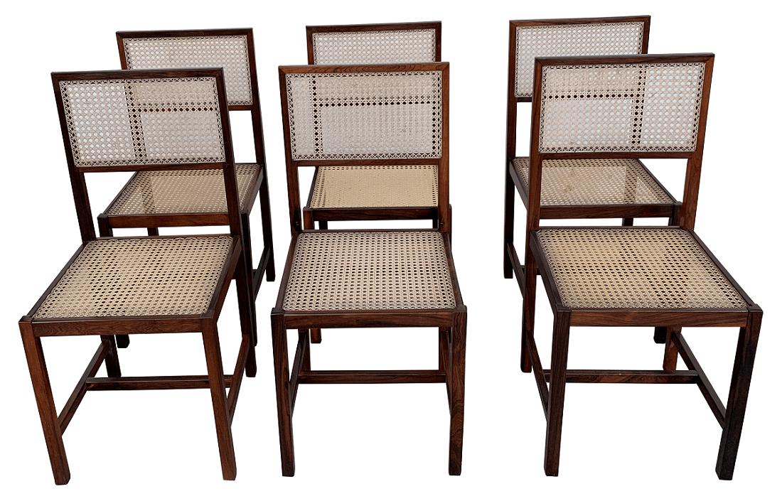 6 Cadeira Antiga Jacaranda Design Anos 60