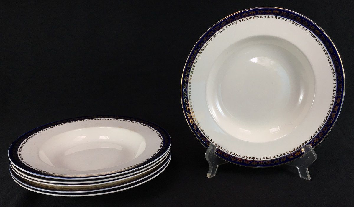 6 Prato Fundo Ingles Porcelana Antiga Alfred Meakin