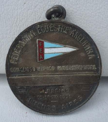 Antiga Medalha Concurso Hipico Internacional Buenos Aires 1951