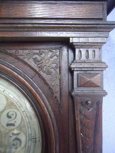 Antigo Relogio De Parede Mostrador Bronze Caixa Trabalhada