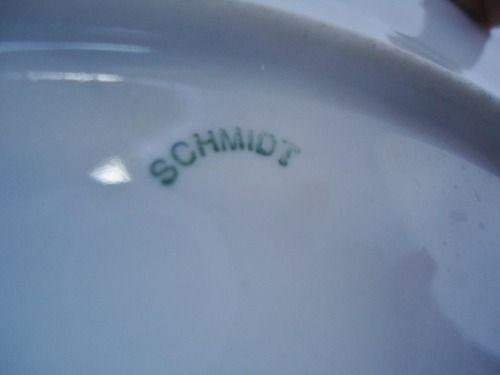 Antigo Prato Schmidt Azul 26 Cm