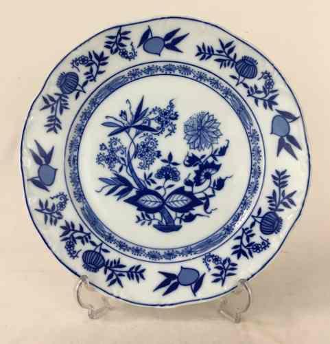 Prato Raso Porcelana Antiga Steatita Cebolinha