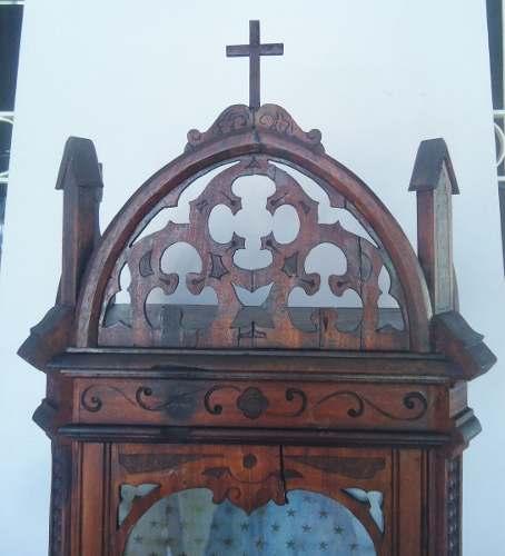 Magnifico Oratorio Todo Trabalhado Em Madeira