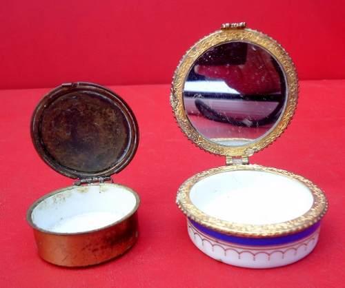 2 Caixinhas Porta Comprimido Porcelana