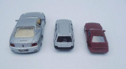 Trio De Miniaturas Maisto 2 Escalas Ferrari Mercedes