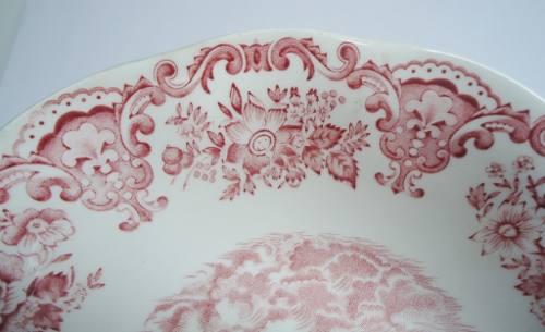 Antigo Par De Saladeira/travessa Funda Porcelana Ingles