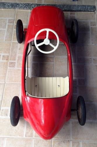 Espetacular Pedal Car Em Aço Ferrari De Corrida