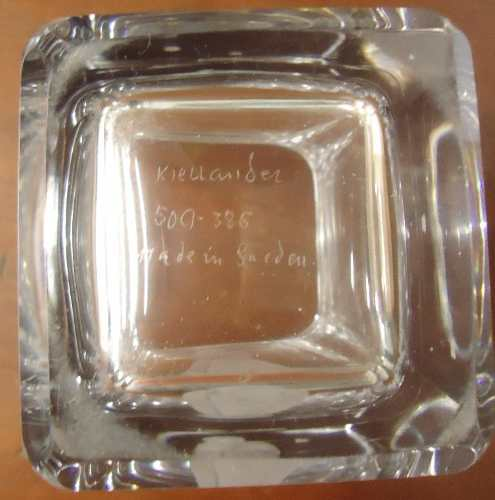 Antigo Vaso Em Cristal Sueco Kiellander Numerado