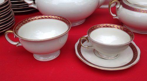 Espetacular Conjunto De Jantar Cha E Cafe Polones Kpm