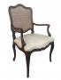 Antiga Cadeira Com Braço Chipandelle Poltrona Jacaranda E Palhinha