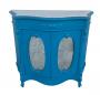 Antiga Comoda Dunquerque Azul Madeira Tampo Marmore