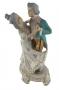 Antiga Escultura Bibelo Porcelana  Biscuit Casal Dançando