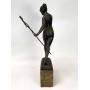 Antiga Escultura Bronze Assinada Otto Schmidt Hofer 63cm
