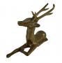 Antiga Escultura De Bronze Cervo Veado Maciço