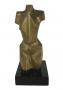 Antiga Escultura Em Bronze Assinada Banfi Torso Masculino